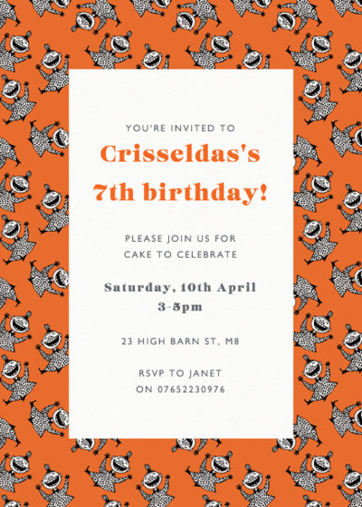 Laughing Little My | Personalised Party Invitation