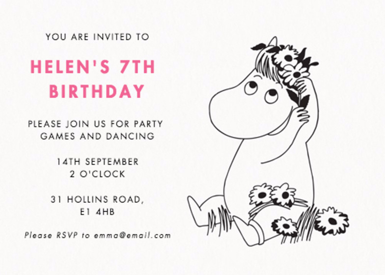 Snorkmaiden | Personalised Party Invitation