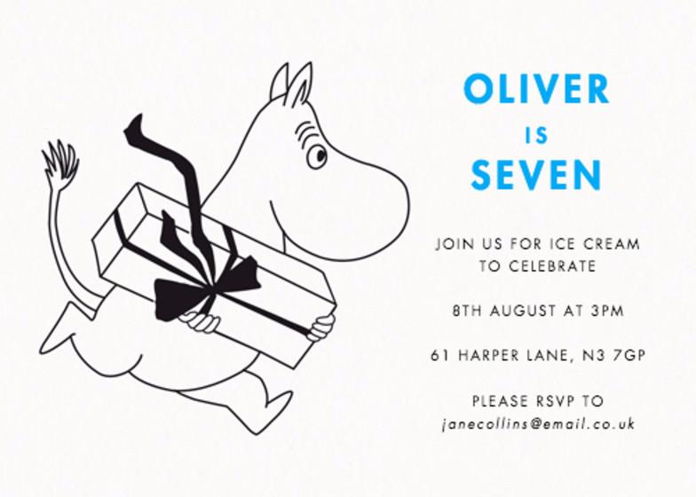 Birthday Moomintroll | Personalised Party Invitation