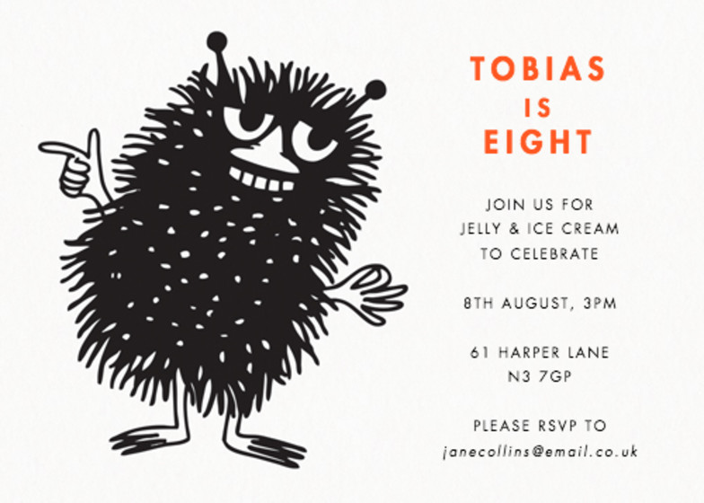 Party Stinky | Personalised Party Invitation