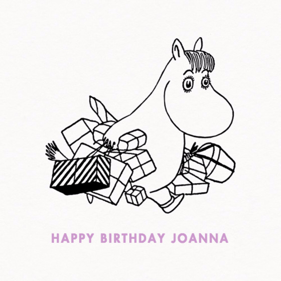 Snorkmaiden With Presents | Personalised Birthday Card