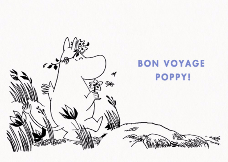Moomintroll At The Shore   Personalised Greeting Card