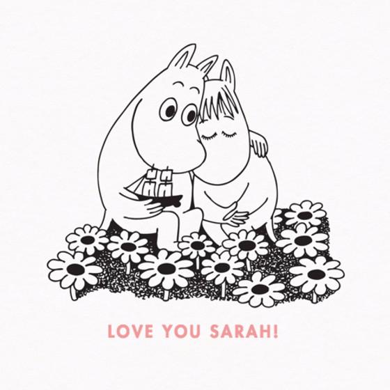 Moomin Hug | Personalised Greeting Card