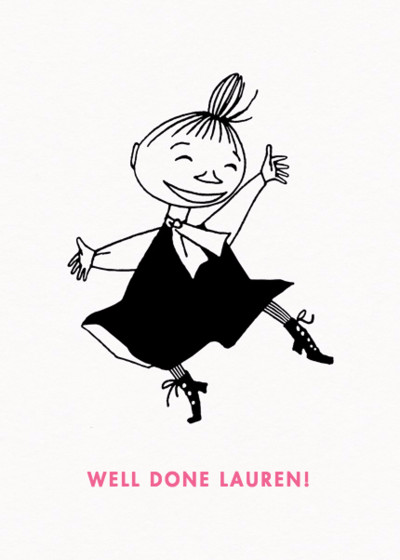 Dancing Little My | Personalised Congratulations Card