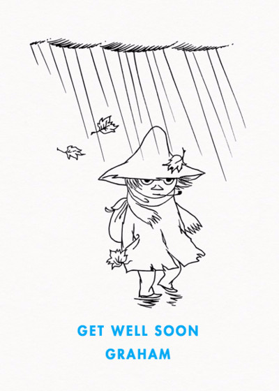 Wandering Snufkin | Personalised Greeting Card