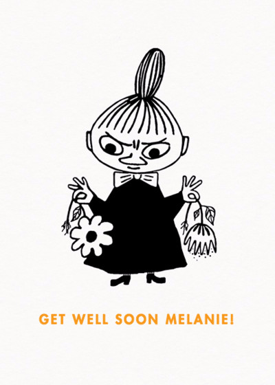 Little My With Flowers | Personalised Greeting Card