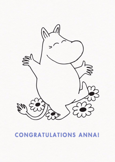 Happy Moomintroll | Personalised Congratulations Card