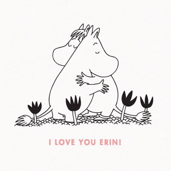 Moomin Love | Personalised Greeting Card