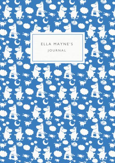 Blue Moomins | Personalised Lined Notebook