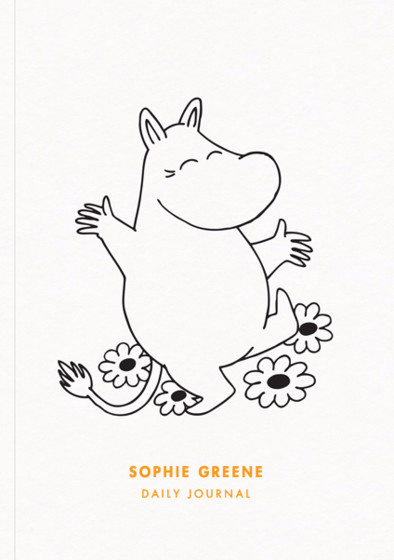 Happy Moomintroll | Personalised Lined Notebook