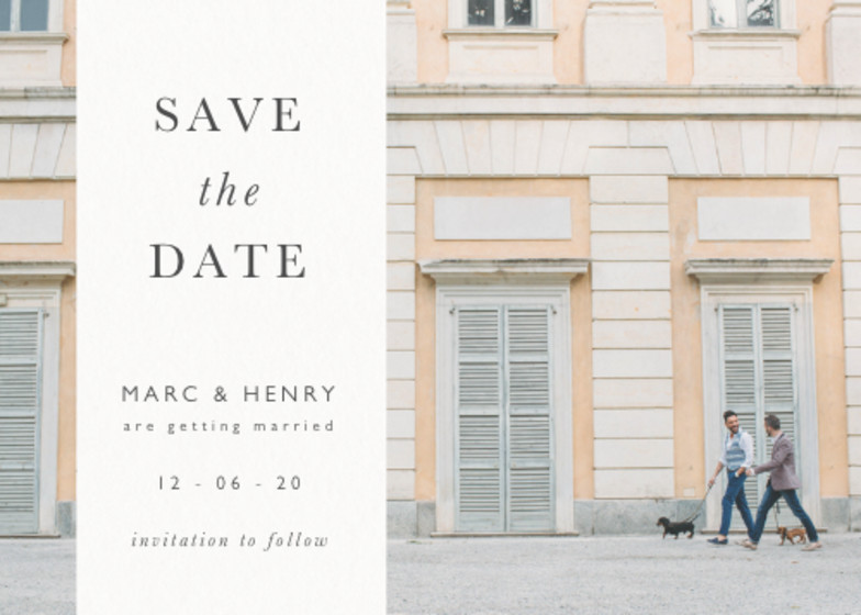 Photo Band | Personalised Save The Date