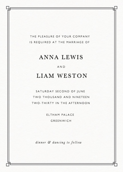 Deco Corners | Personalised Wedding Invitation
