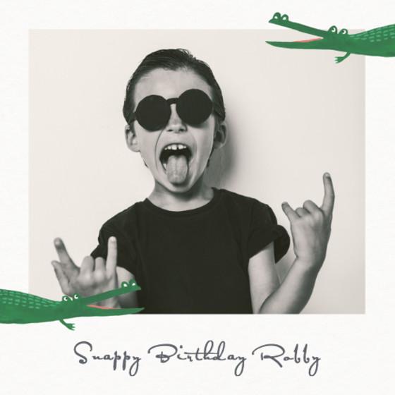 Crocodile | Personalised Birthday Card
