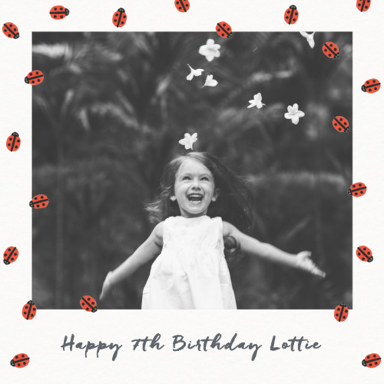 Ladybirds | Personalised Birthday Card