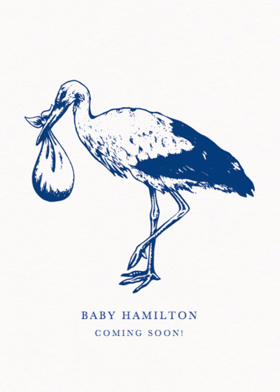 Stork | Personalised Announcement Card
