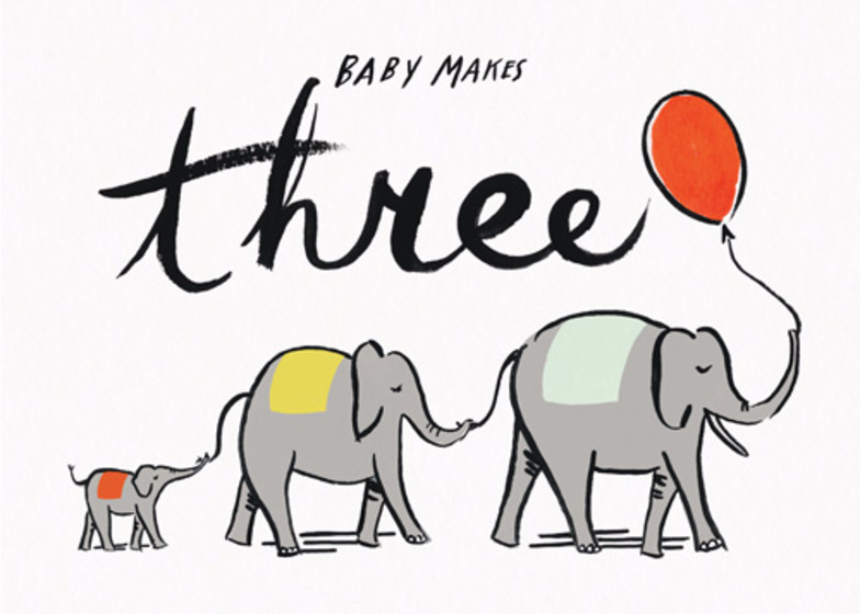 Baby Makes Three | Personalised Announcement Card
