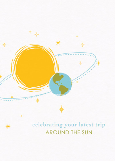 Sun And Earth | Personalised Birthday Card