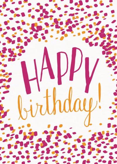 Happy Birthday Confetti | Personalised Birthday Card