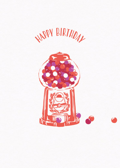 Gumball Machine | Personalised Birthday Card