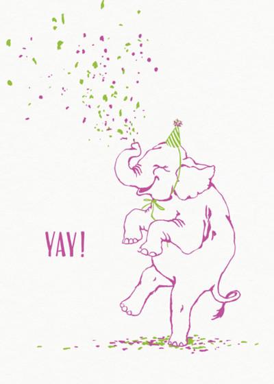 Birthday Elephant | Personalised Birthday Card