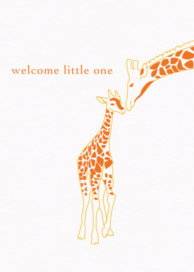 Baby Giraffe | Personalised Congratulations Card