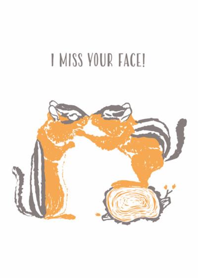 Chipmunk Muzzle | Personalised Greeting Card