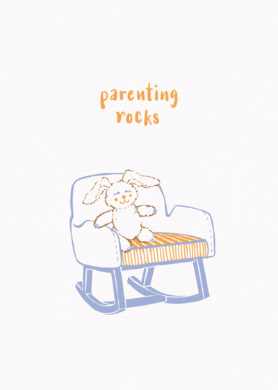 Rocking Chair | Personalised Congratulations Card