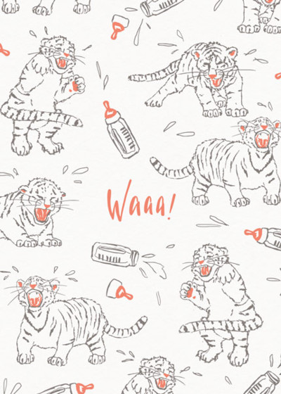 Tiger Cubs | Personalised Congratulations Card