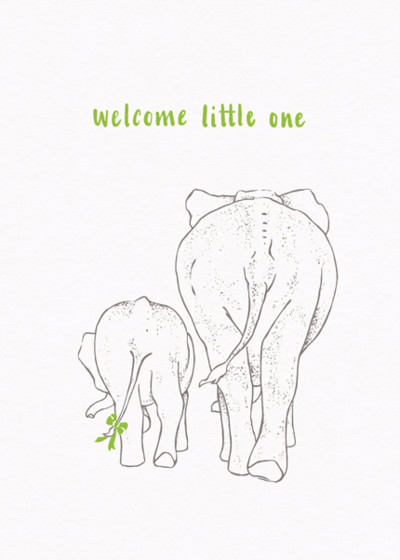 Baby Elephant | Personalised Congratulations Card