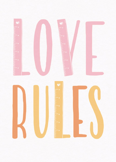 Love Rules | Personalised Greeting Card