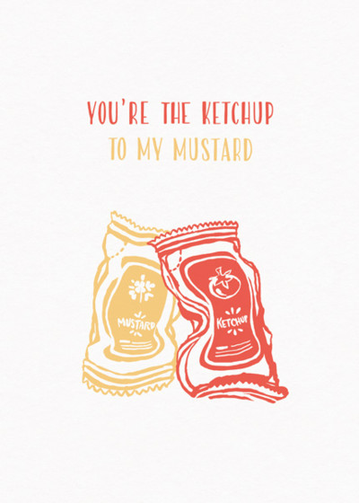 Ketchup And Mustard  | Personalised Greeting Card