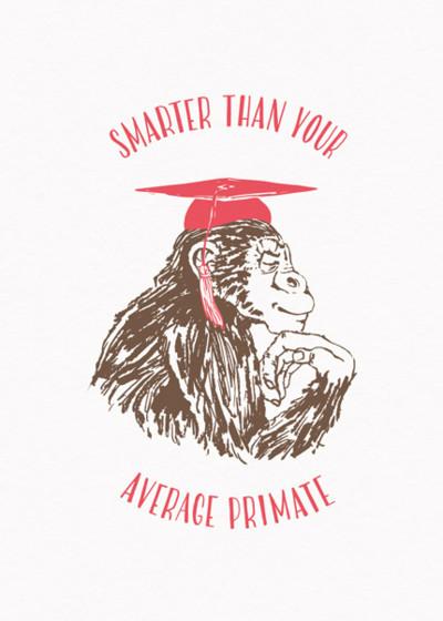 Chimpanzee   Personalised Congratulations Card