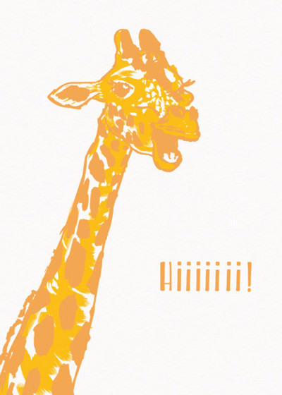 Giraffe | Personalised Greeting Card