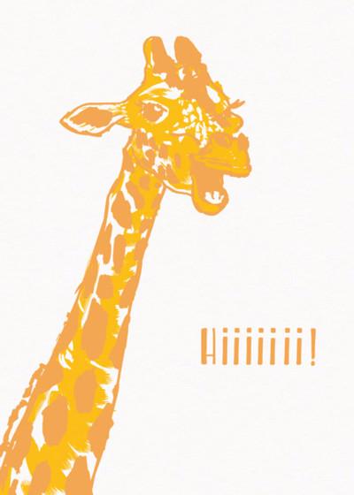Giraffe | Personalised Birthday Card
