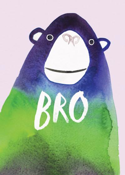 Bro | Personalised Birthday Card
