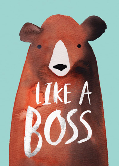 Like A Bear Boss | Personalised Congratulations Card
