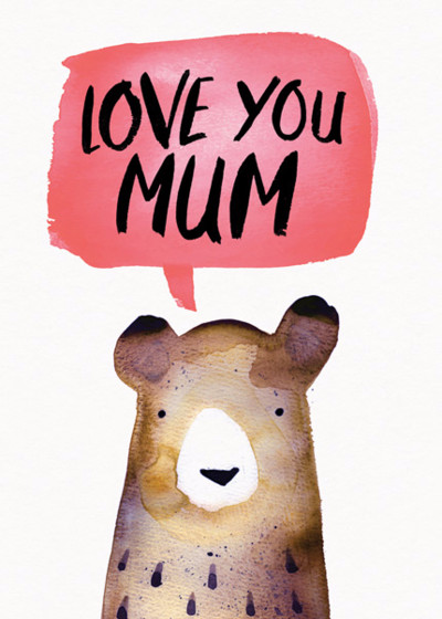 Love You Bear | Personalised Birthday Card