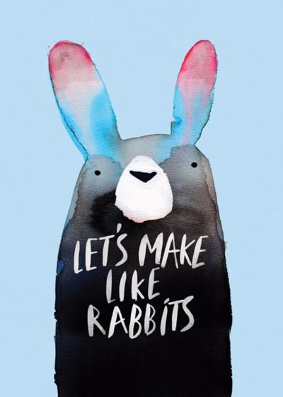 Make Like Rabbits | Personalised Greeting Card