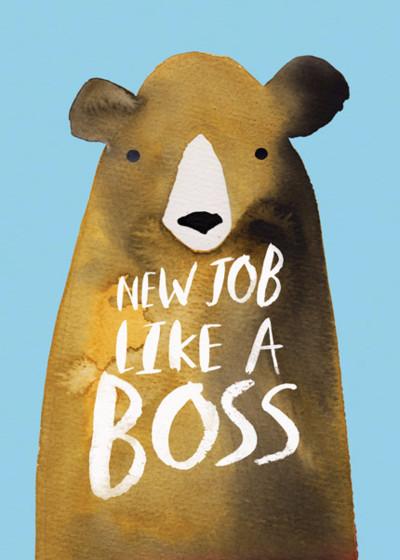 New Job Bear | Personalised Congratulations Card