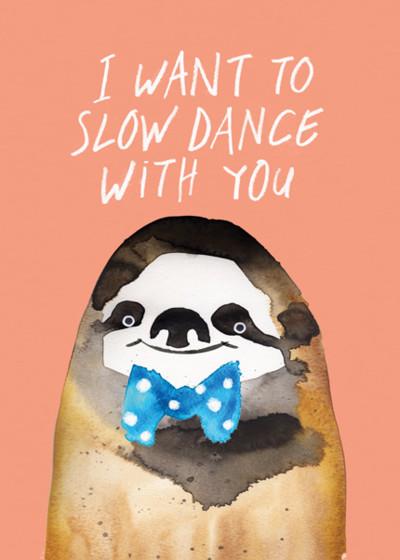 Sloth Dance | Personalised Greeting Card