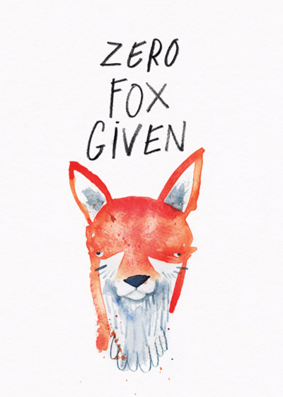 Zero Fox Given | Personalised Good Luck Card