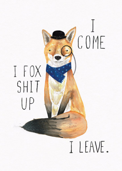 Fox Shit Up | Personalised Birthday Card