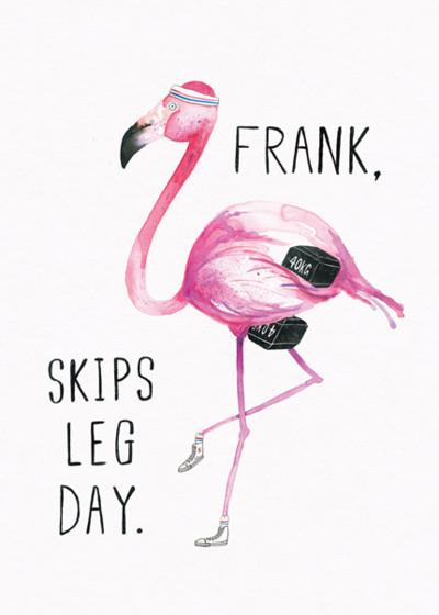 Flamingo Frank | Personalised Good Luck Card
