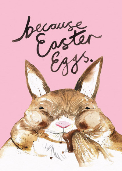 Because Easter | Personalised Greeting Card