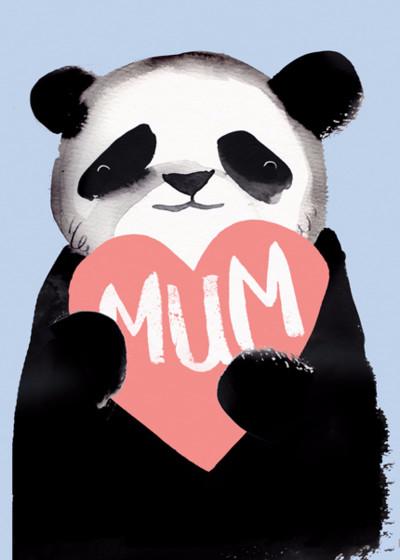 Panda Mum | Personalised Birthday Card