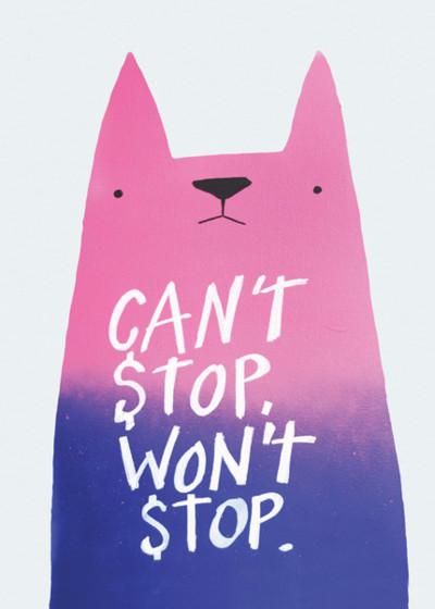 Can't Stop Cat | Personalised Congratulations Card