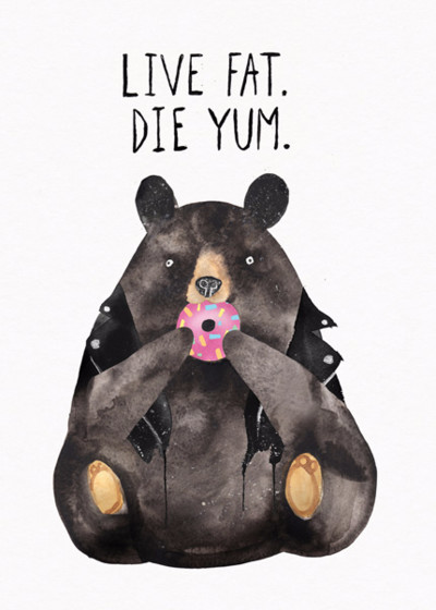 Live Fat Bear | Personalised Birthday Card