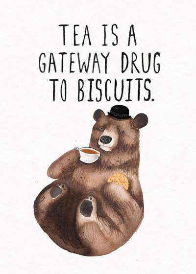 Biscuit Bear | Personalised Birthday Card