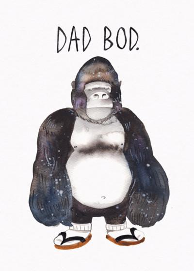 Dad Bod | Personalised Birthday Card