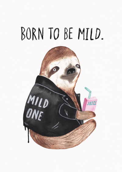 Born To Be Mild | Personalised Birthday Card